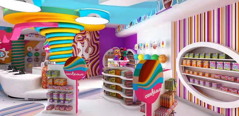 sweet candy shop design