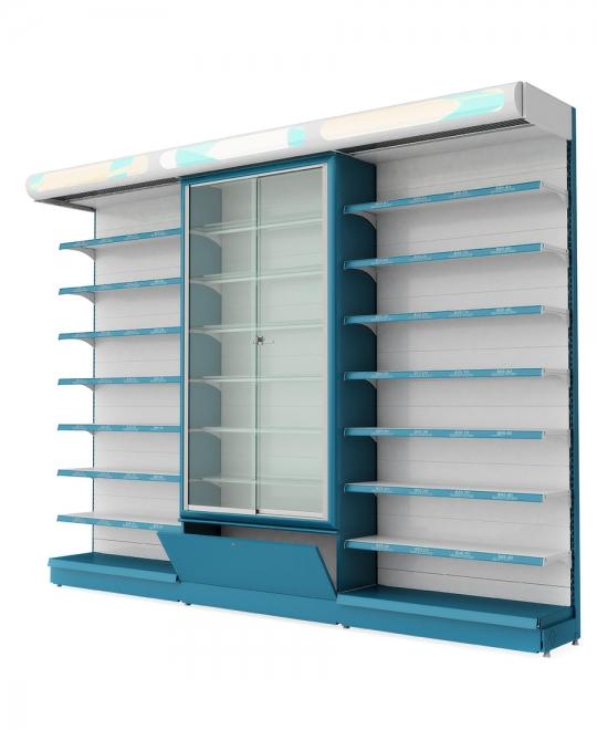 RX display shelf