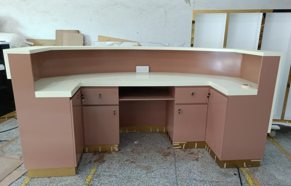 reception desk back side