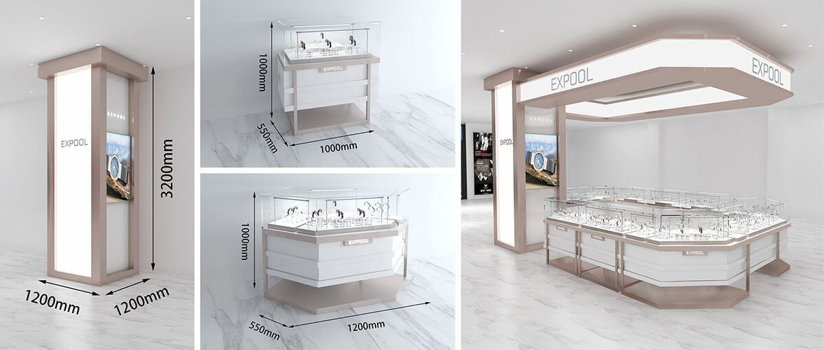 EXPool watch booth in mall