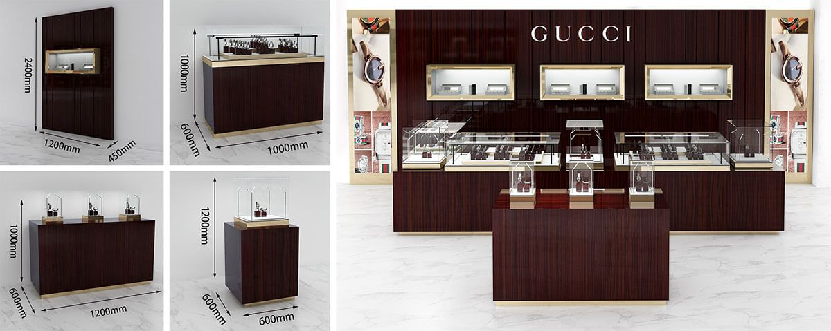 GUCCI watch booth in mall