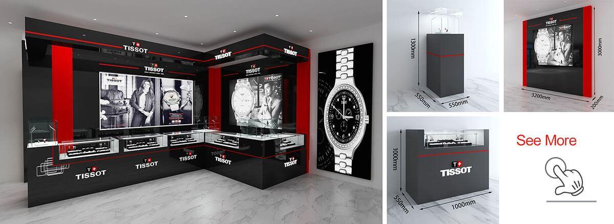 Tissot watch shopfitting