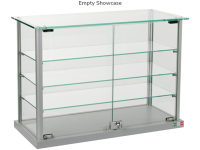 metal display case