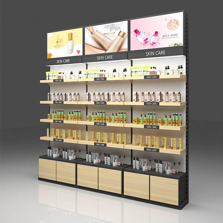 tủ trưng bày cửa hàng chăm sóc da