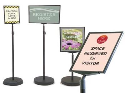 floor standing sign holders