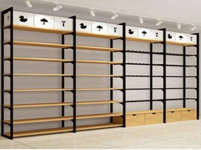 wood display shelves