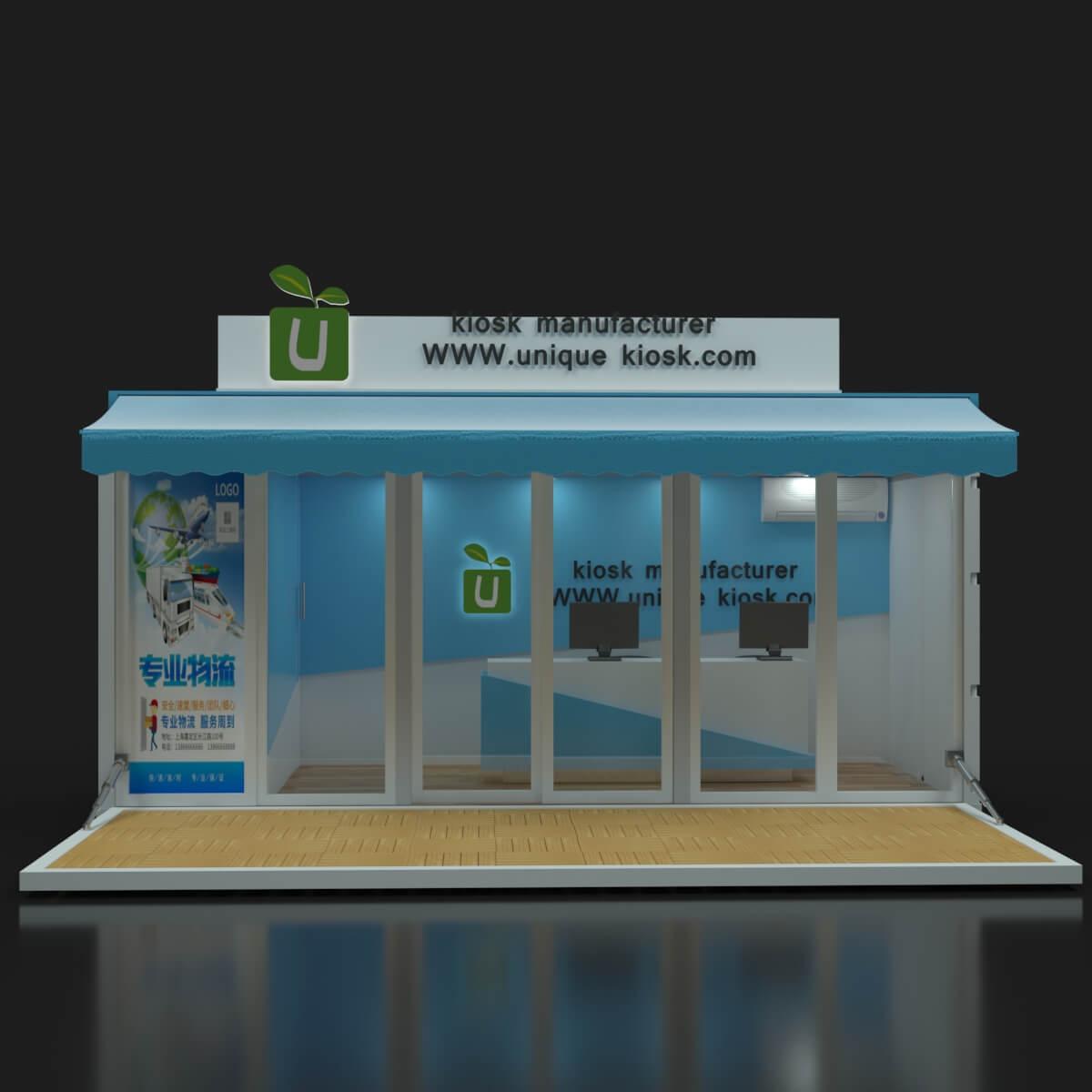 outdoor container kiosk
